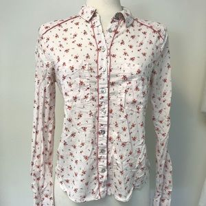 Free People Western Floral Blouse